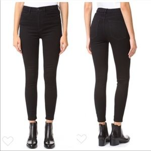 Free People Black High Rise Skinny Jeans